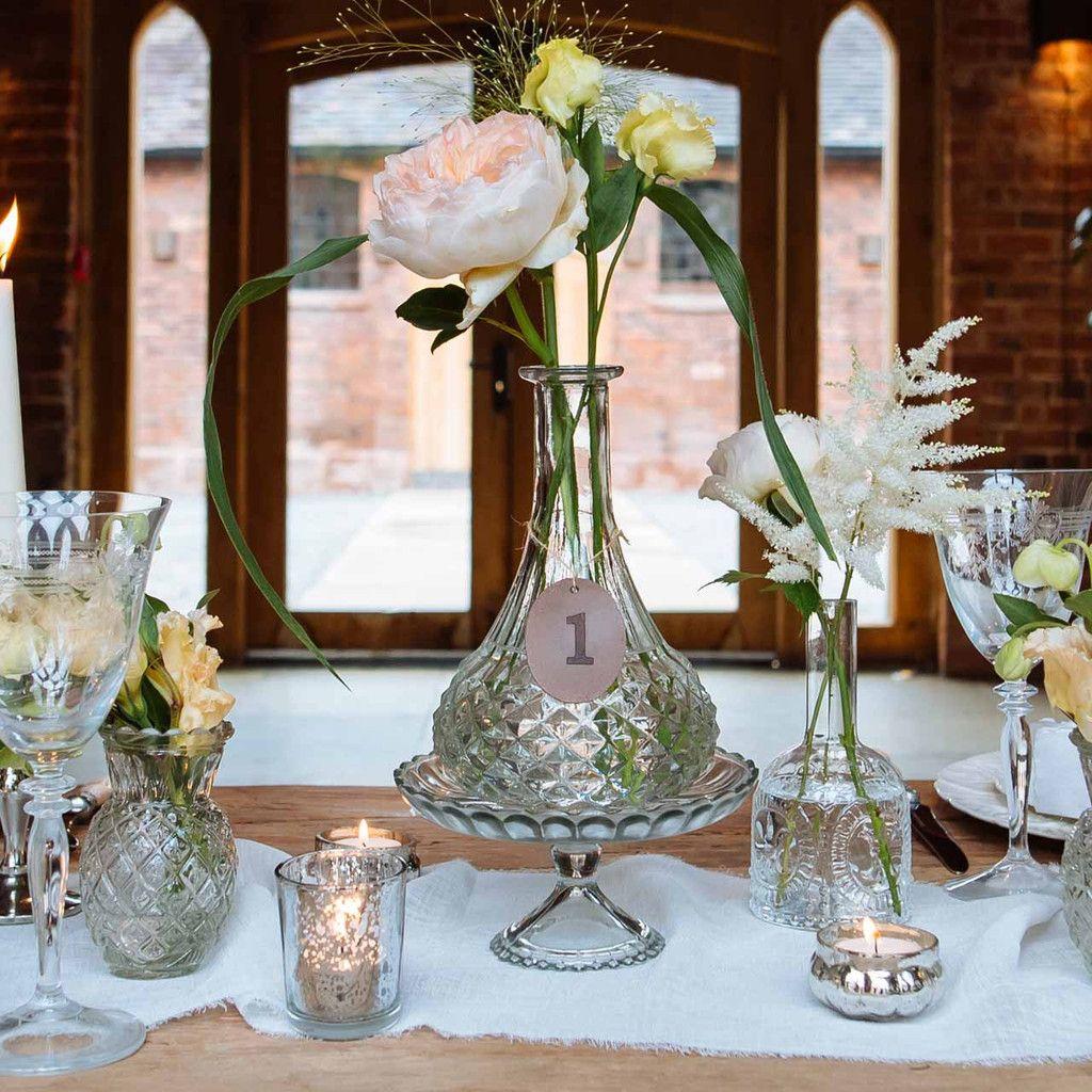 Pressed glass decanter wedding centrepiece vase our wedding pressed glass decanter wedding centrepiece vase reviewsmspy