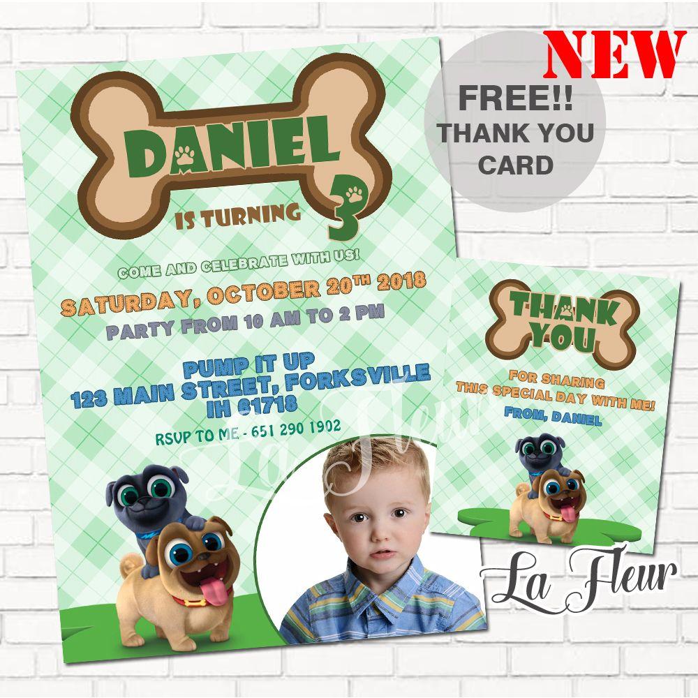 Puppy Dog Pals Birthday Puppy Dog Pals Puppy Dog Pals Invitation