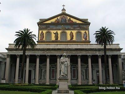 Basilica Of San Paolo Fuori Le Mura Rome Italy Basilica