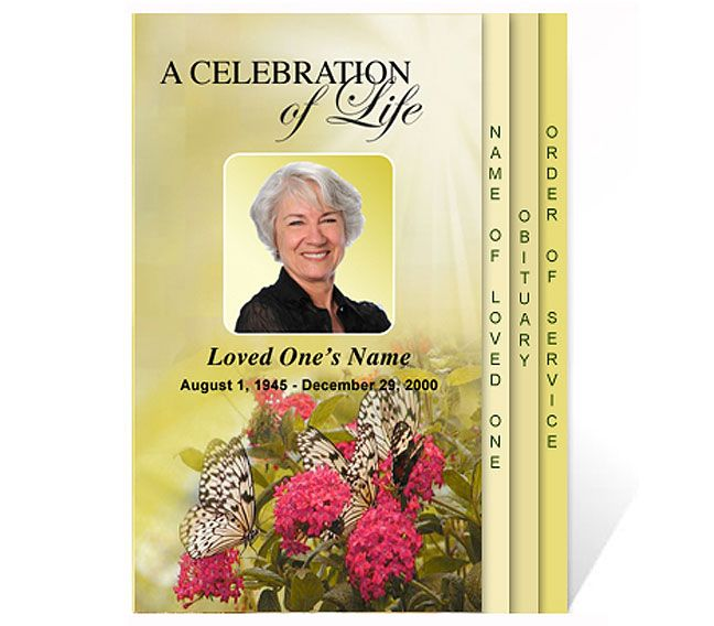 Free funeral program templates new funeral program for Free celebration of life program template