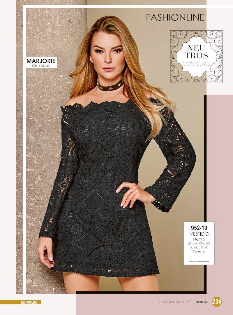 Vestido de invierno negro manga larga