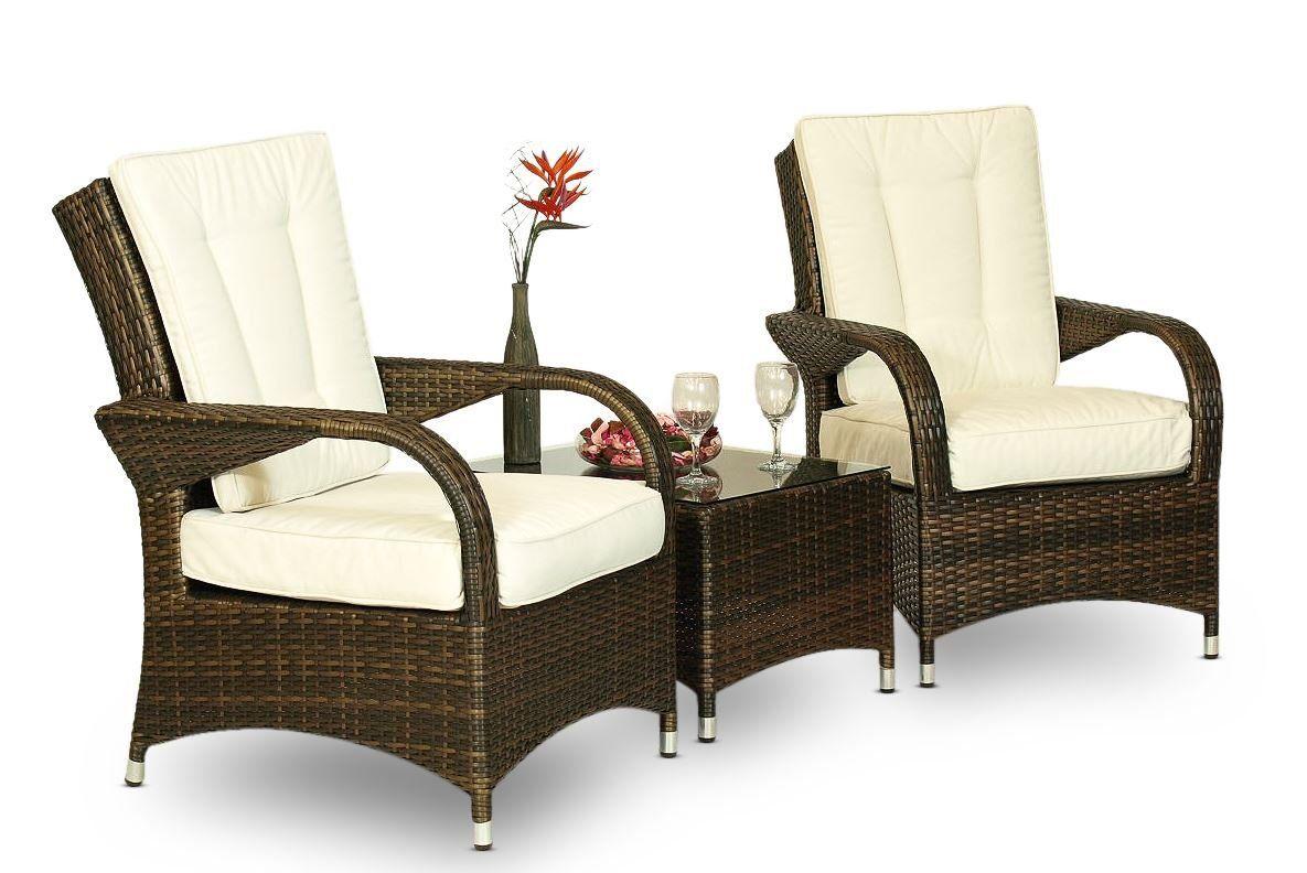 Jds sedie ~ Arizona rattan 2 x arm chair & table outdoor lounge set patio