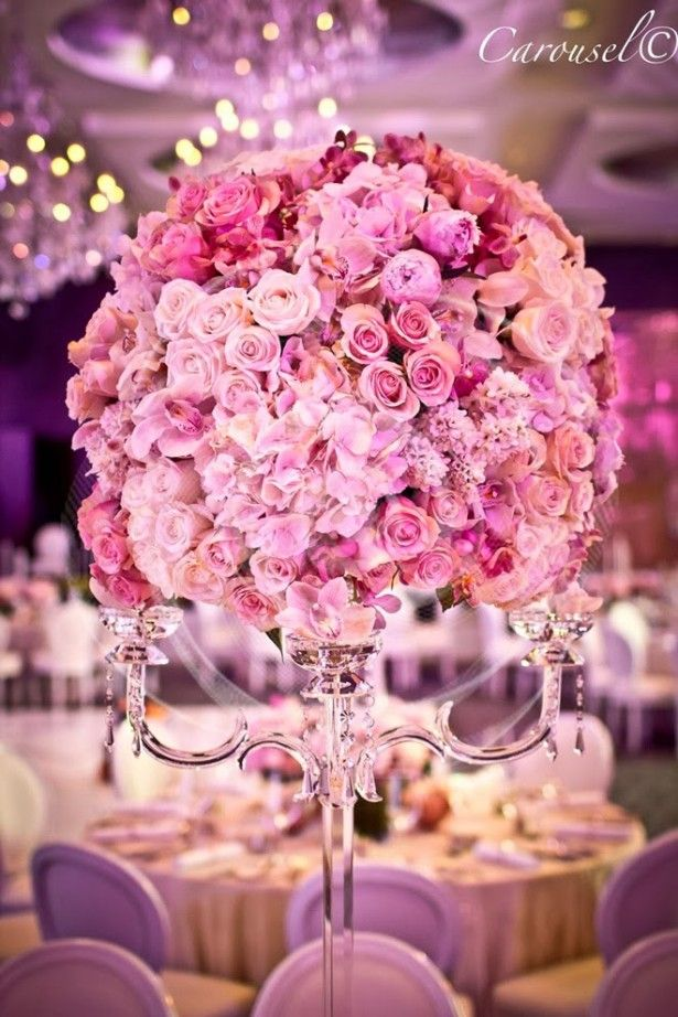 Best wedding centerpieces of blush flowers floral