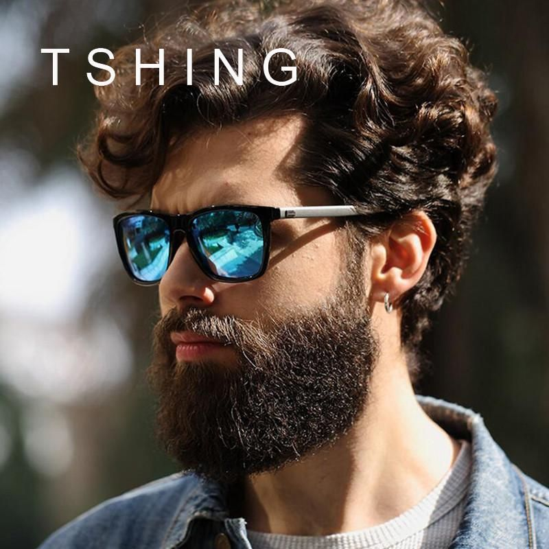6207235b24 TSHING Mens Classic Polarized Sunglasses Men Women Fashion Brand Designer  Vintage Square Driving Sun Glasses For