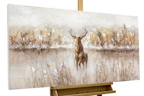 Kunstloft Bilder kunstloft® acryl-gemälde 'auge in auge' 120x60cm | original