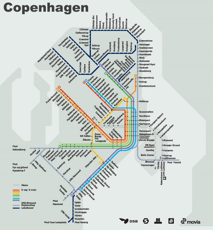 Copenhagen metro map Maps Pinterest Copenhagen and City