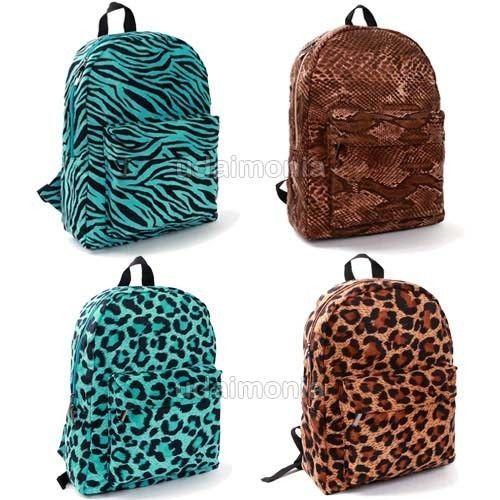 Children Personalized Backpack Zebra Teal Blue Bookbag Quilted ...