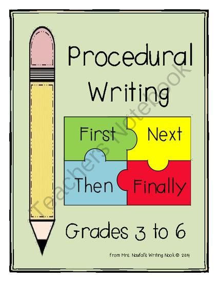 Procedural Writing From Mrs Naufal 39 S Nook On