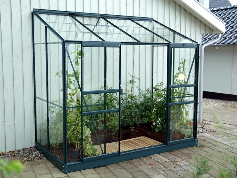 mini serre adossée en verre | Lean to greenhouse, Small ...