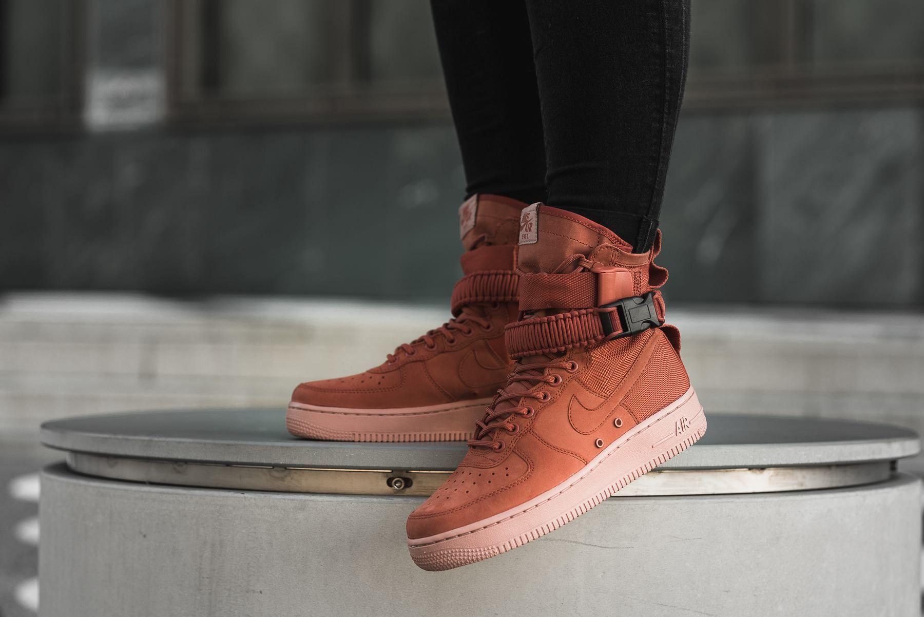 Nike Sf Air Force 1 Dusty Peach Grailify Sneaker Releases Nike Nice Shoes Sneaker Head
