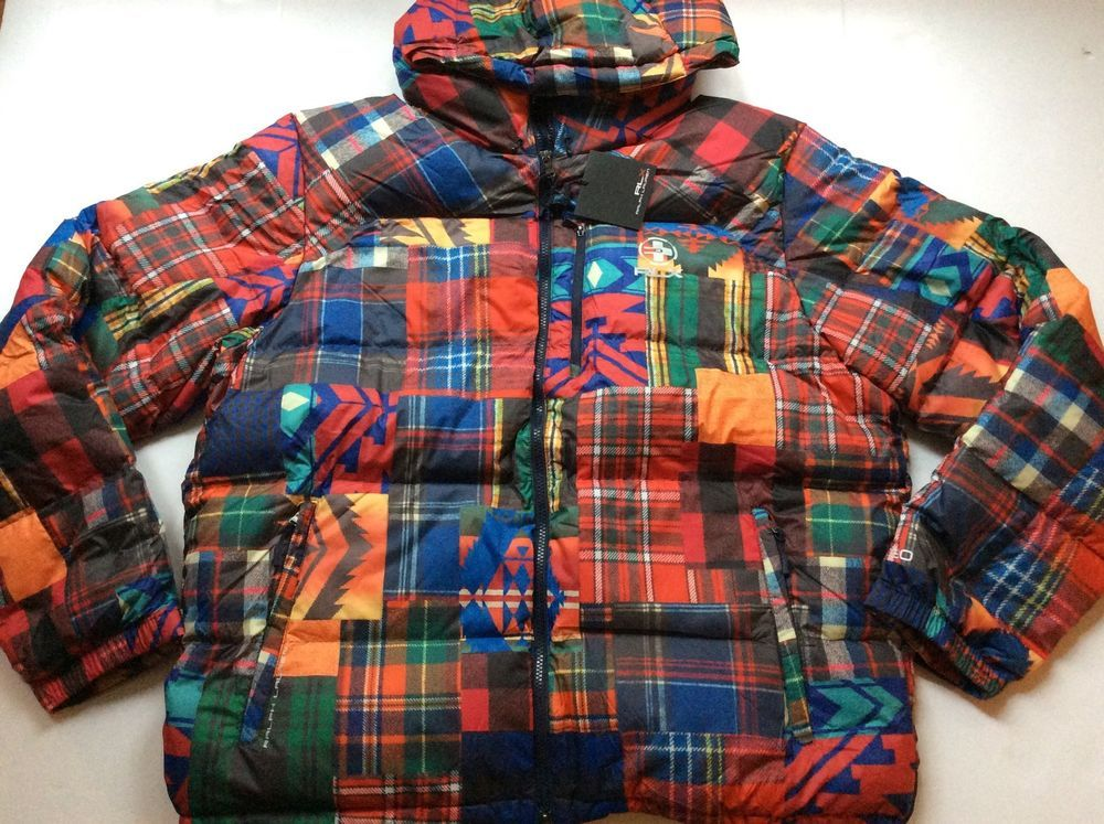 Ralph lauren rlx southwestern serape patchwork down jacket for Chaise patchwork xl style
