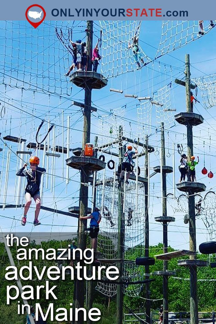 There S An Adventure Park Hiding In The Middle Of A Maine Forest And You Need To Visit Adventure Outdoor Travel Visit Maine