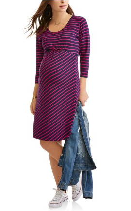 06e35de96f Oh! Mamma Maternity 3 4 Sleeve Scoop Neck Dress With Flattering Side Ruching --Available In Plus Size  momtobe  maternitystyle  maternity   fashionOhMamma ...
