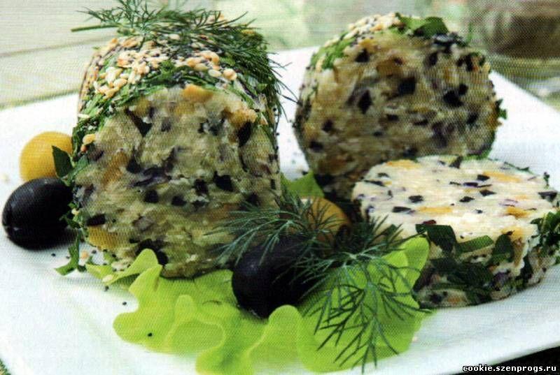 Закуска из творожный сыр с красной икрой