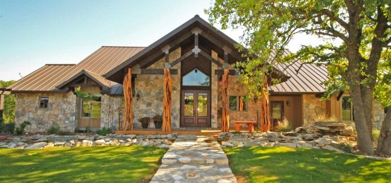 Texas Hill Country House Plans With Limestone Materials For Ranch