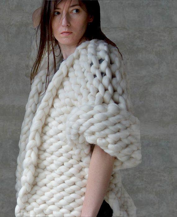Laine géant de Cardigan, pull en grosse laine, chunky tricot pull, pull en tricot géant, fils Chunky knit cardigan, pull maille surdimensionnée,