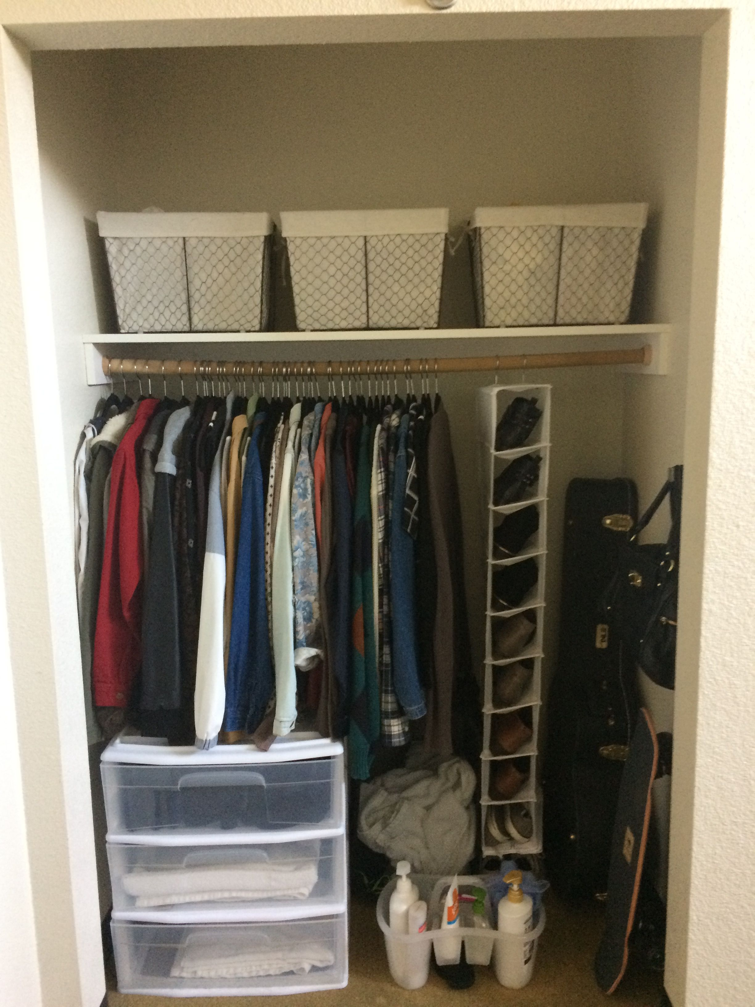 Dorm Room Closet: CSUF Residence Hall Dorm Room