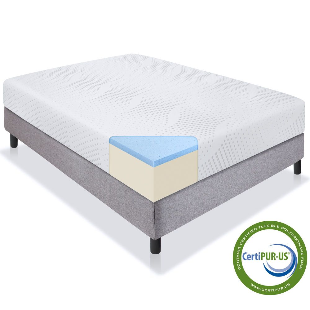 gel memory foam mattress full size bed cotton cover comfort home bedding 10 inch