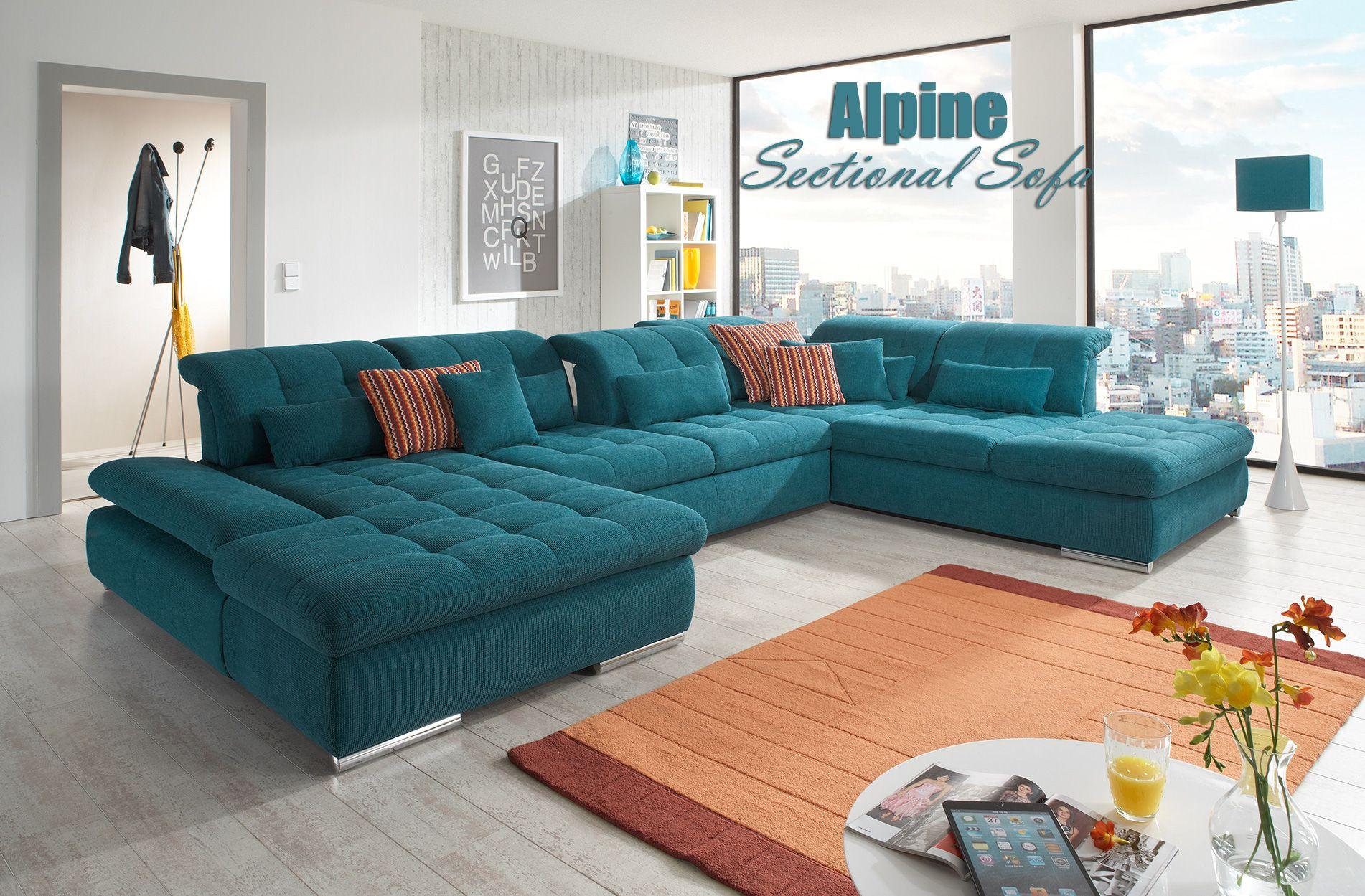 Alpine Sectional Sofa Sleeper With Storage Modern Sofa Sectional