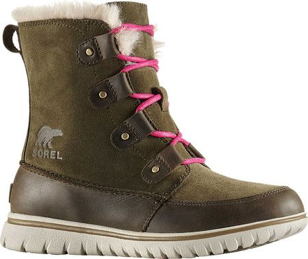 9dc8586270e4 Women s Sorel Cozy Joan Snow Boot - Nori Leather with FREE Shipping    Exchanges. The Sorel Cozy Joan Snow Boot combines the comfort of a sneaker  and ...