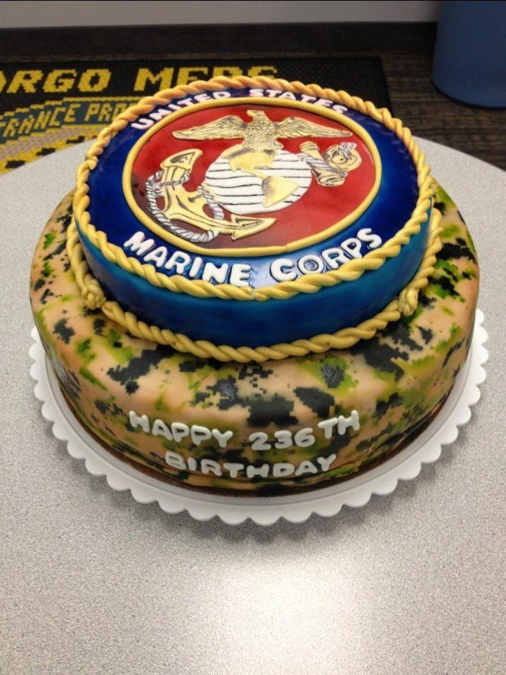 Awe Inspiring Marine Corps Birthday Cake Military Cake Marine Cake Personalised Birthday Cards Akebfashionlily Jamesorg