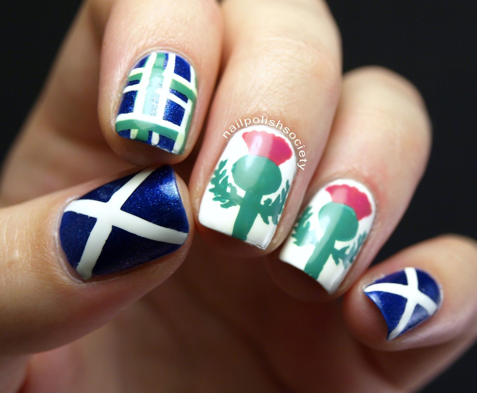 Scottish Festival And Highland Games Nail Art Miscellaneous