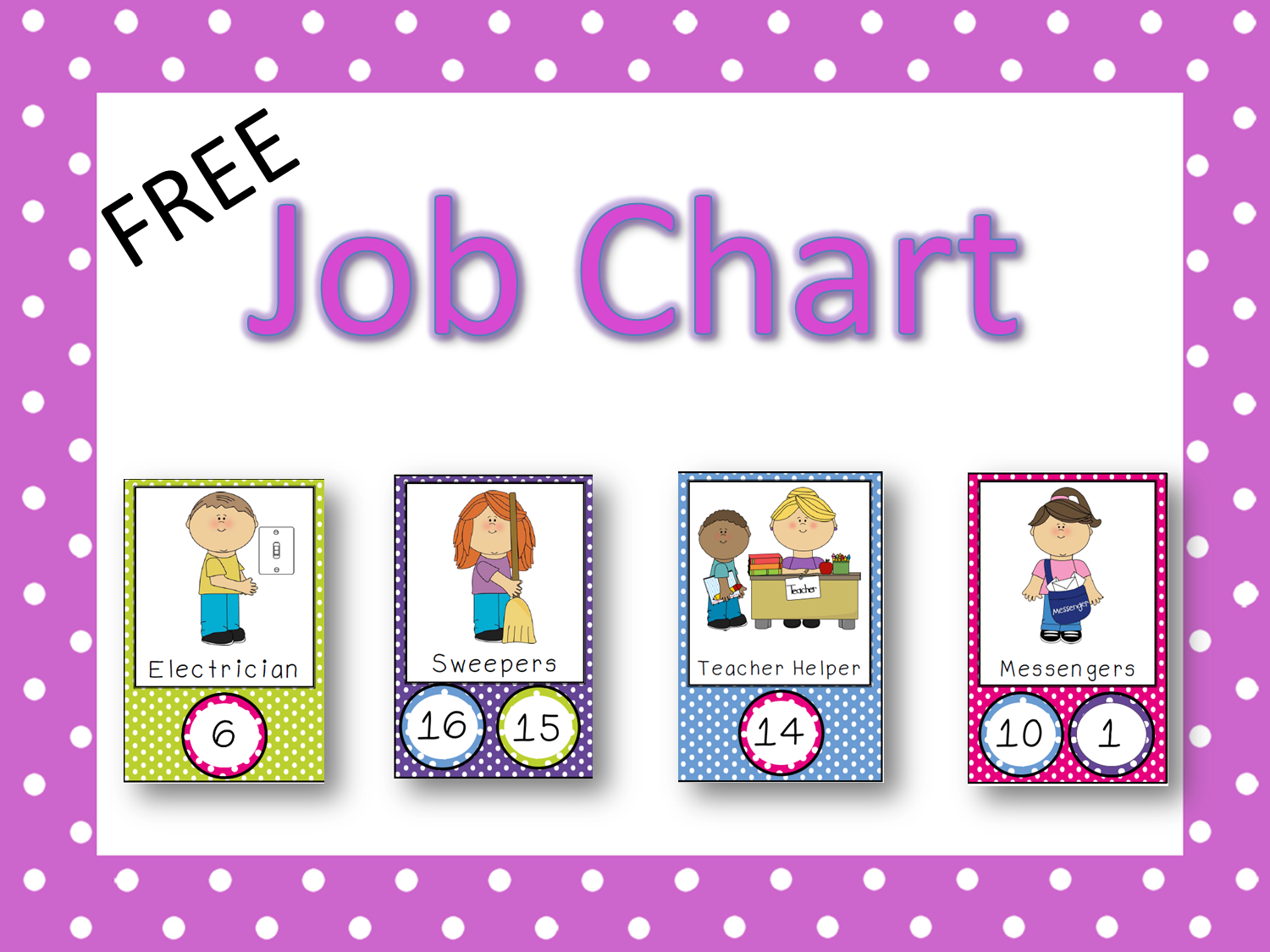 This is a picture of Massif Free Printable Preschool Job Chart Pictures