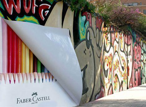 Resultado de imagen para ejemplos de ambient marketing faber castell