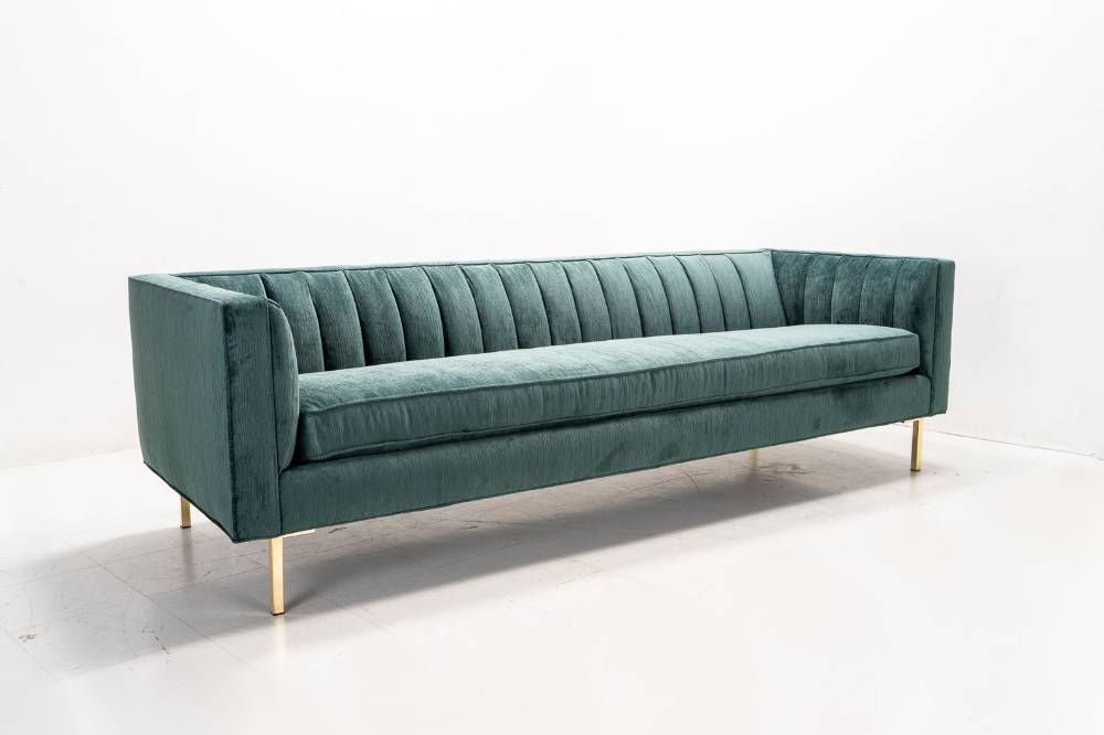 Modern Channel Tufted Back Sectional Chaise Etsy Sectional