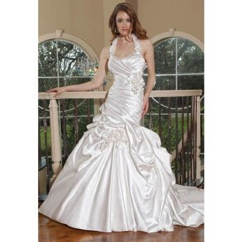 glamour neckholder lang schnürung brautkleider hochzeit in der halle  kleid hochzeit
