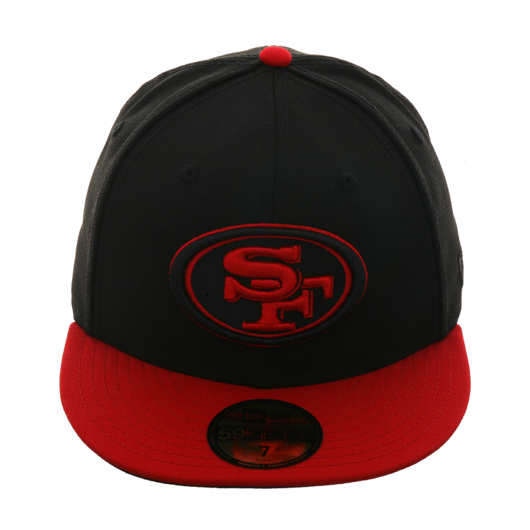 buy popular 02337 2676b Exclusive New Era 59Fifty San Francisco 49ers Hat - 2T Black, Red,   37.99