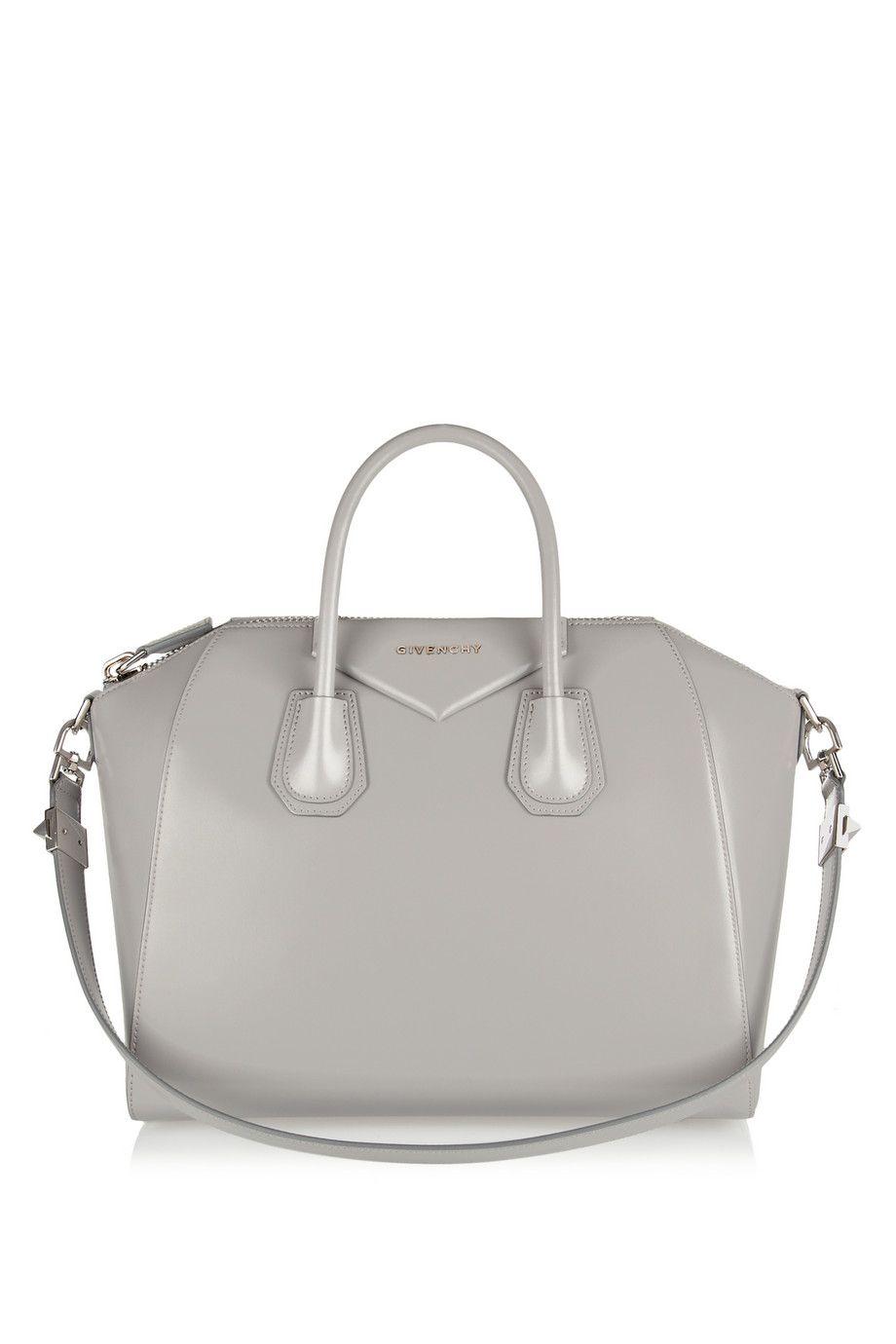 7795ffe69af Givenchy   Medium Antigona bag in gray leather   NET-A-PORTER.COM ...