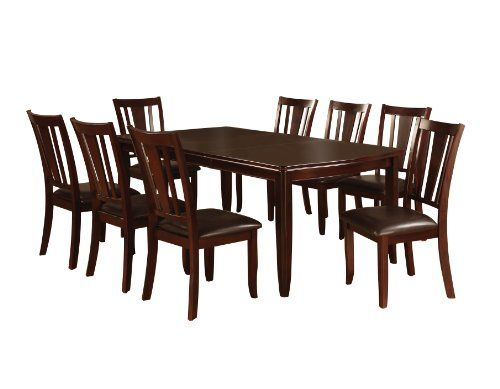 Furniture of America Frederick 9-piece dining room table and chair set, Espresso Furniture of America