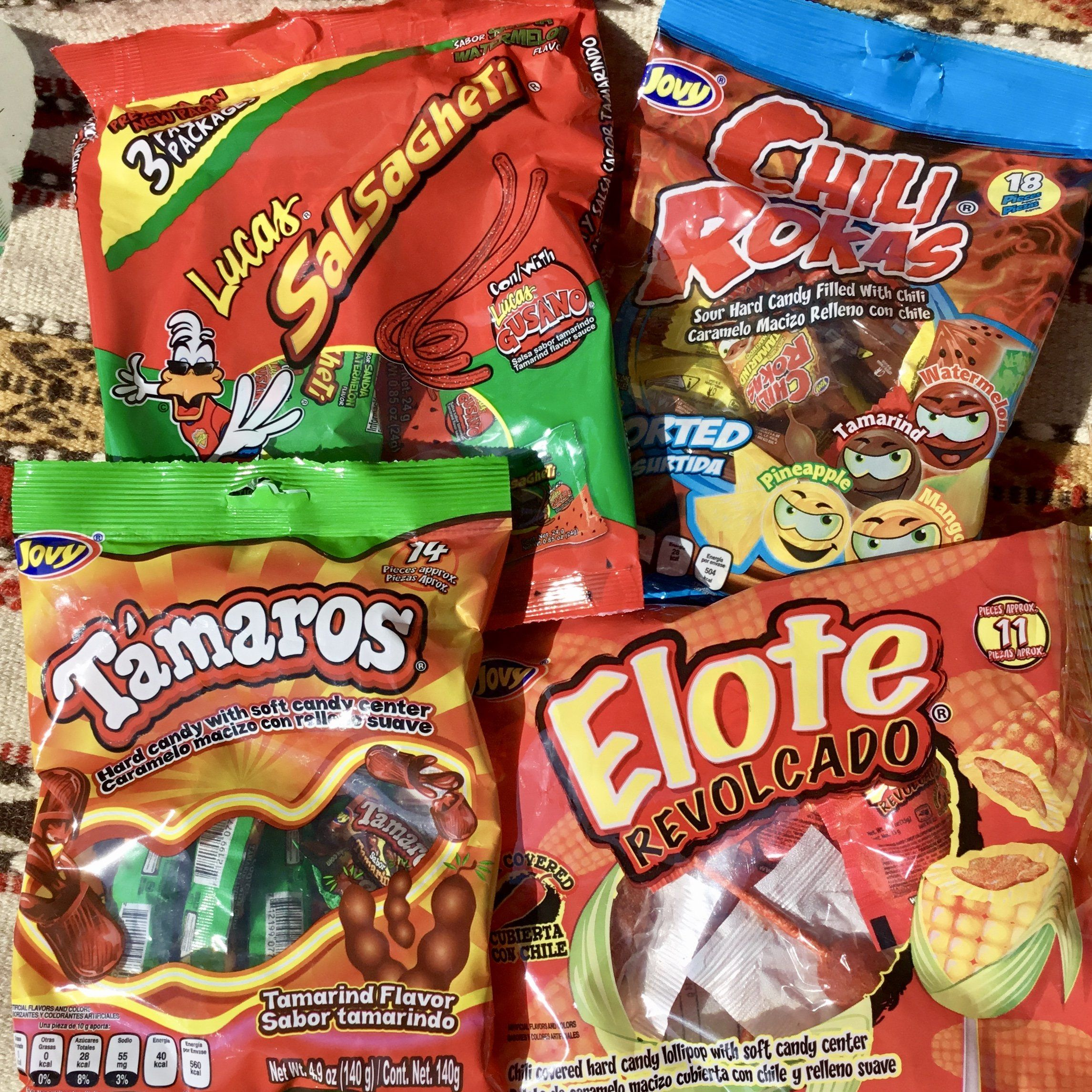Fun Mexican Sweet/Spicy Candy Sampler Hot Chili Candy 4