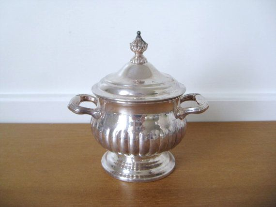 Gorham Newport silver plate sugar bowl with lid by Sweetpotatojack, $19.00