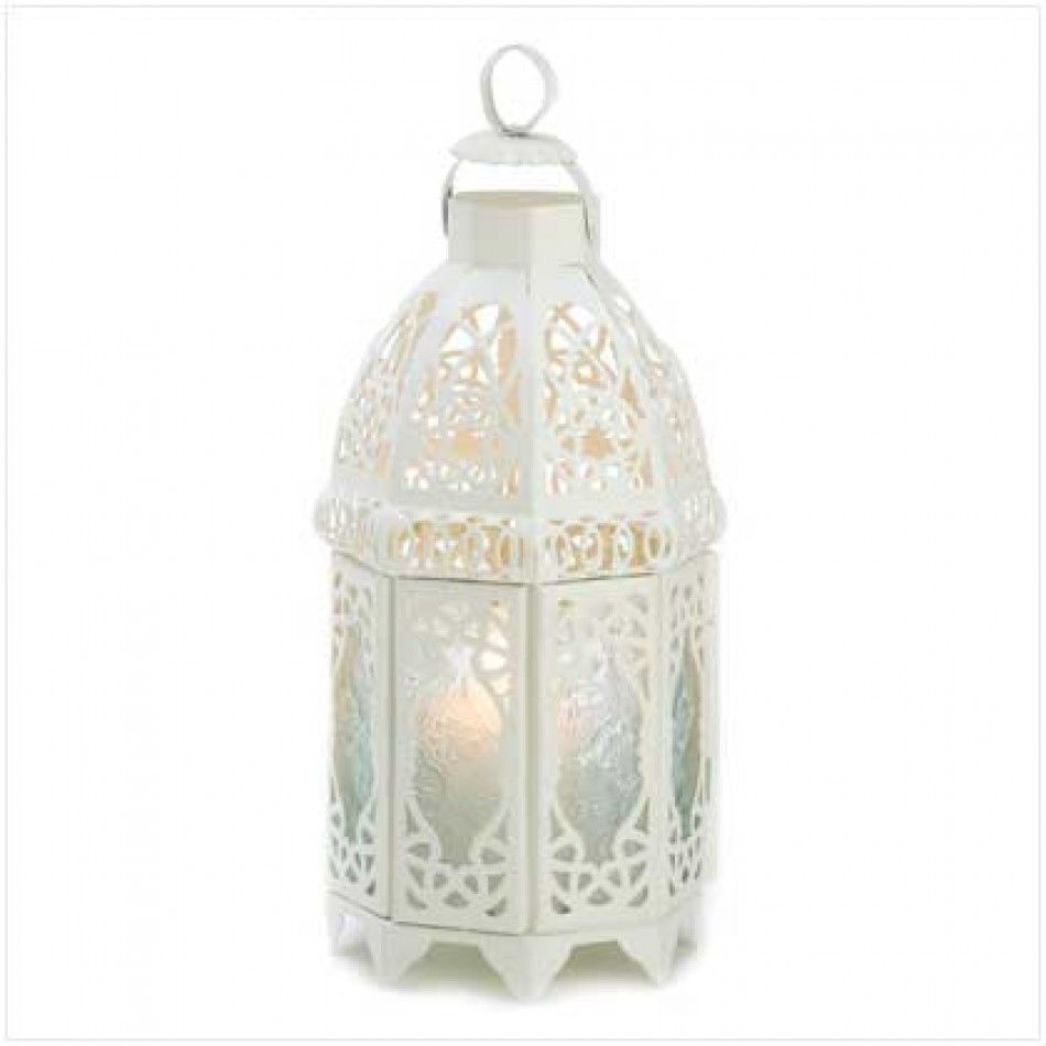 White Lattice Lantern 13364 Buy Wholesale Wedding Supplies Discount