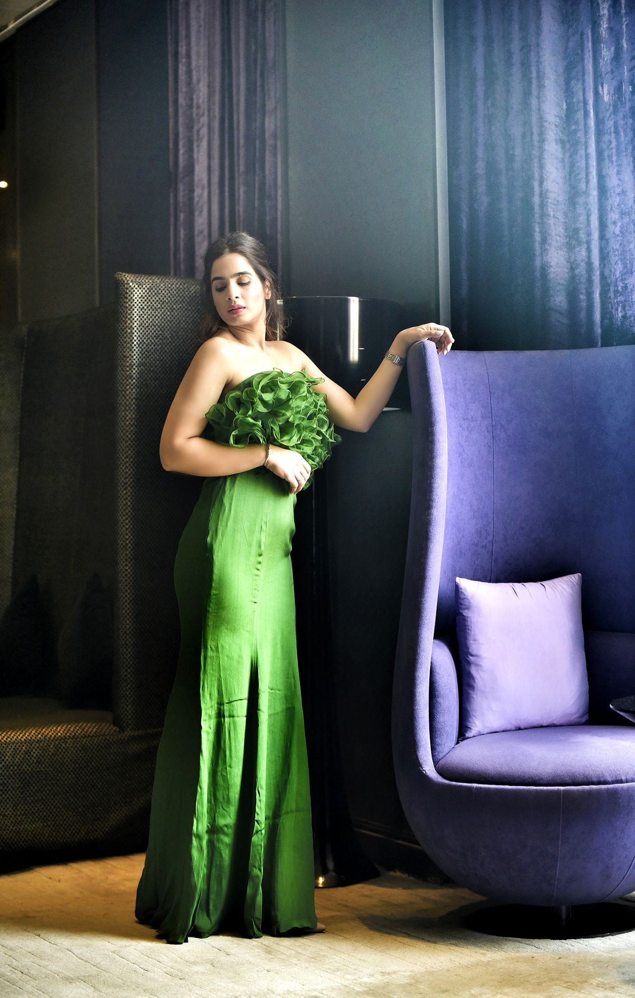 Standing Tall In Bhawna Navneet Couture Gown At Hyatt Regency In 2020 Strapless Dress Formal Stunning Outfits Couture Gowns [ 2014 x 1281 Pixel ]