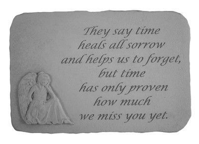 They Say Time Heals… with Angel Garden Stone