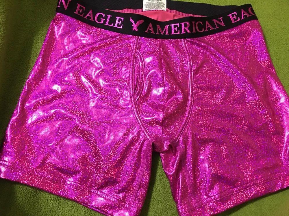 4ddfc61e5 Glitter and Shine Pink American Eagle Boxers M