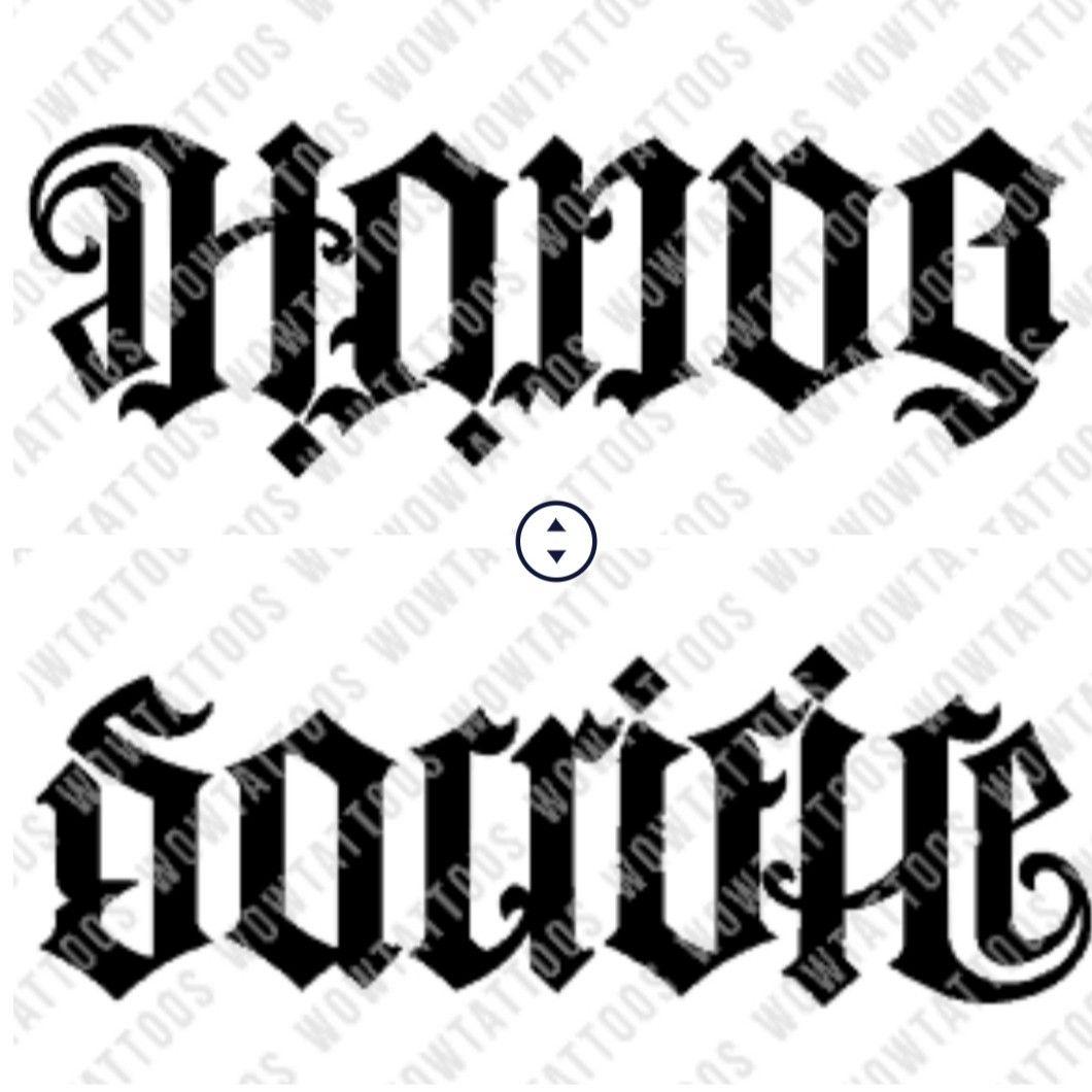 Tattoo Sleeve Generator: Honor/Sacrifice Ambigram Tattoo