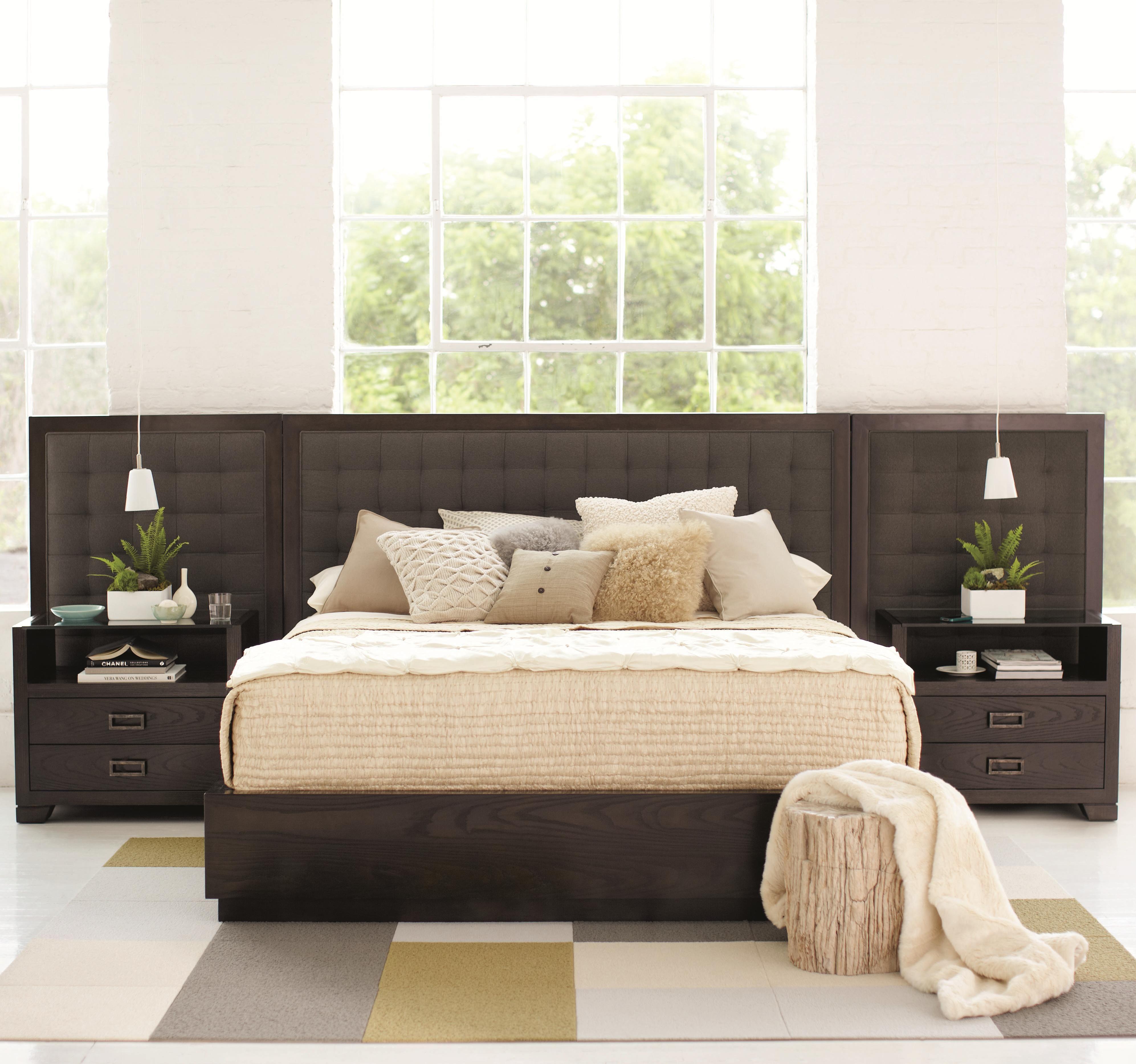 Mercer Upholstered Low Profile King Bed With Panels By Bernhardt Wayside Furniture Platform