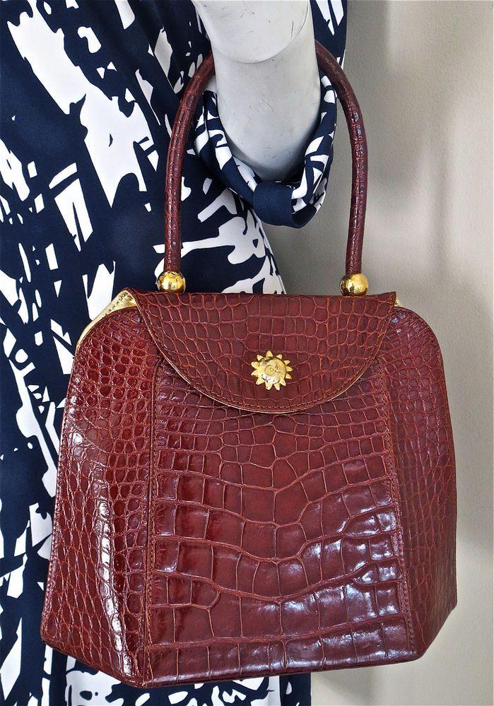 Christian Lacroix Vintage Croc Embossed Handbag dPs6VfRFf