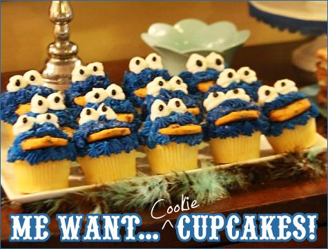 REAL PARTIES Cookie Monster Birthday Cookie monster Monsters and