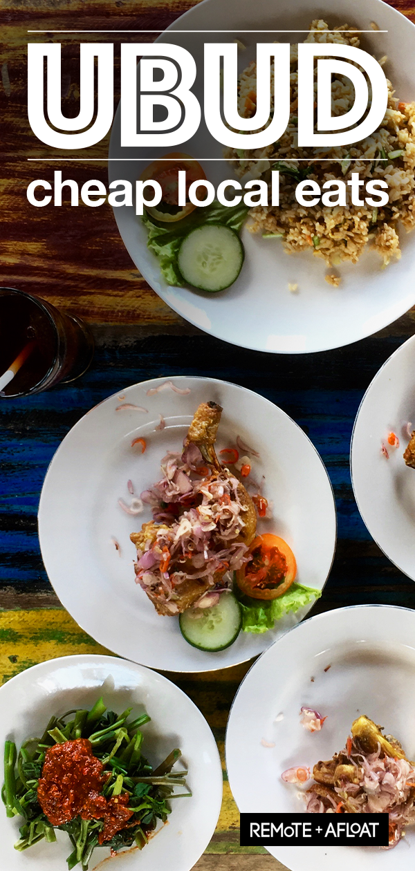 Cheap eats in Ubud, Bali - Eat local food, pay local prices #smallrestaurants