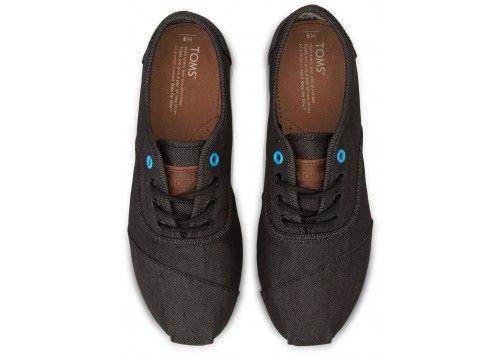 Black Denim Blue Pop Men's Cordones | TOMS.com