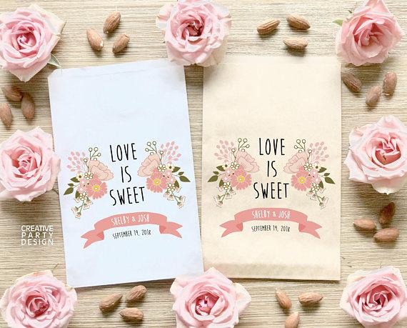 Custom Wedding Candy Bags Favor Love Is Sweet