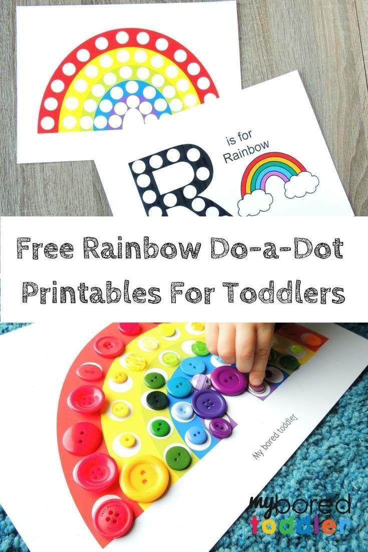 Free Printable Do A Dot Rainbow Activity Rainbow Activities