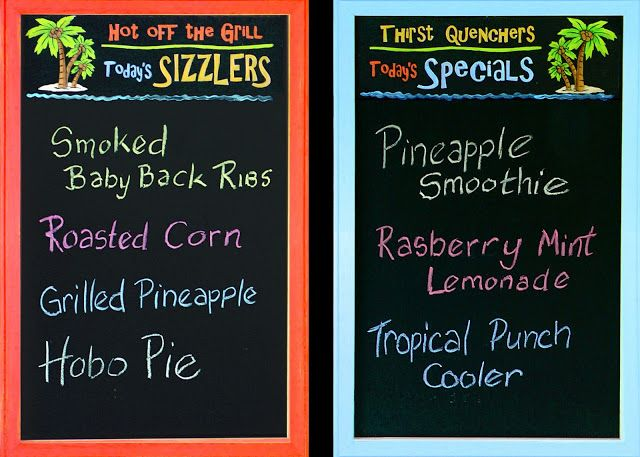 Annie Lang's Menu Boards from her Blog!