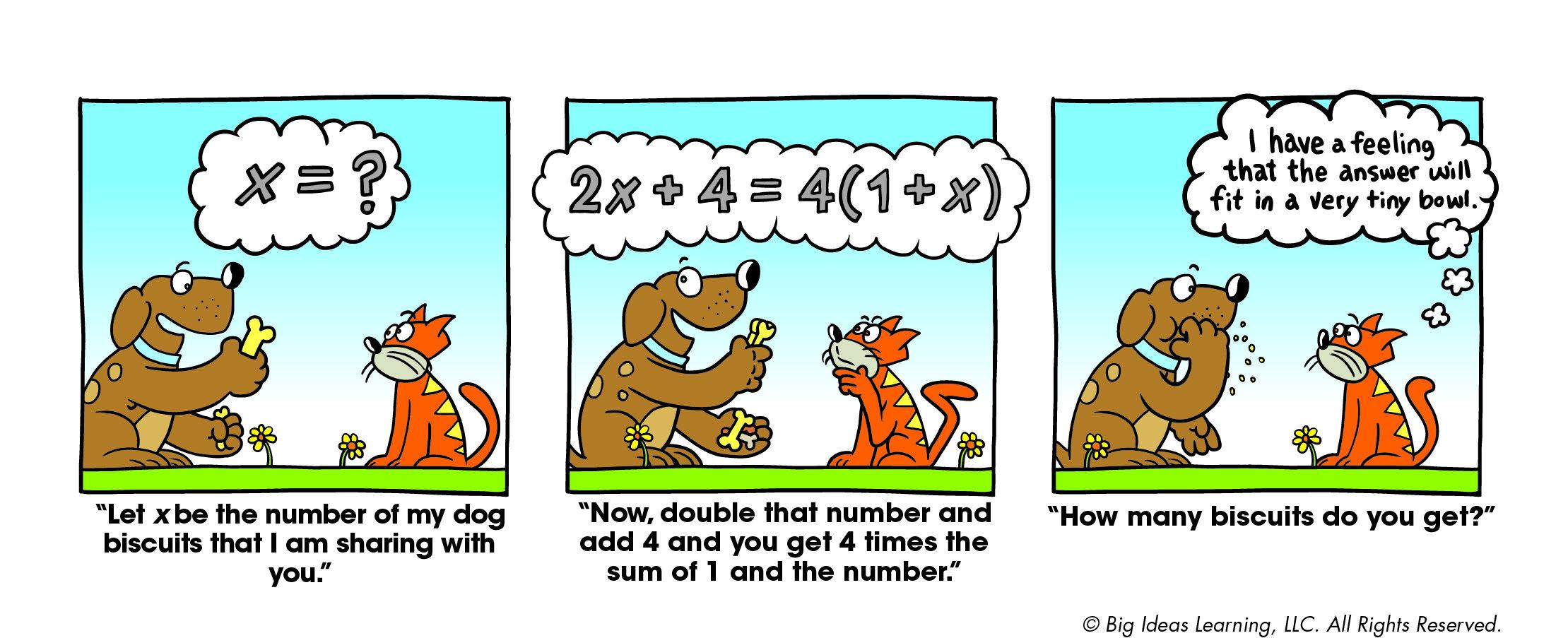 Solving Equations Big Ideas Math Math Cartoons Solving Equations [ 903 x 2219 Pixel ]