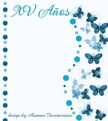 Anamar Invitaciones Fondo Mariposas Tarjetas Para
